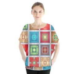 Tiles Pattern Background Colorful Blouse