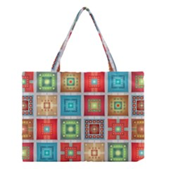 Tiles Pattern Background Colorful Medium Tote Bag