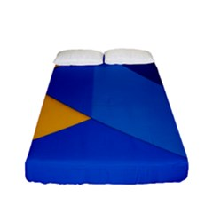 Box Yellow Blue Red Fitted Sheet (full/ Double Size)