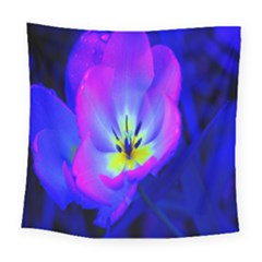 Blue And Purple Flowers Square Tapestry (large)
