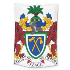 Coat Of Arms Of The Gambia Large Tapestry