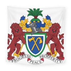 Coat Of Arms Of The Gambia Square Tapestry (large)