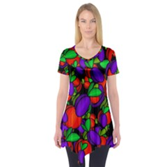 Plums And Peaches Short Sleeve Tunic