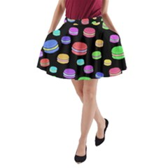 Colorful macaroons A-Line Pocket Skirt