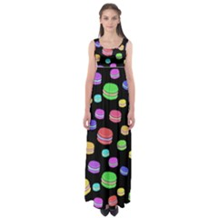 Colorful macaroons Empire Waist Maxi Dress
