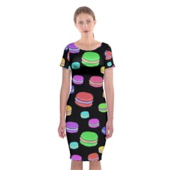 Colorful macaroons Classic Short Sleeve Midi Dress