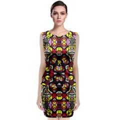 Queen Design 456 Classic Sleeveless Midi Dress