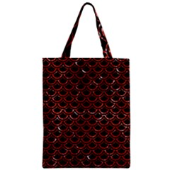 Scales2 Black Marble & Red Marble Zipper Classic Tote Bag