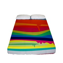 Colorfull Rainbow Fitted Sheet (full/ Double Size)