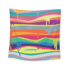 Colorfull Rainbow Square Tapestry (small)