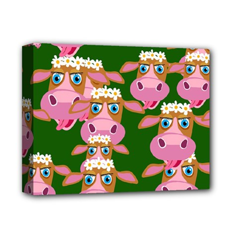 Cow Pattern Deluxe Canvas 14  X 11