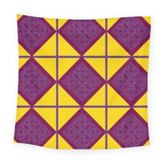 Complexion Purple Yellow Square Tapestry (large)