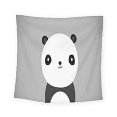 Cute Panda Animals Square Tapestry (small)