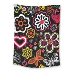 Flower Butterfly Medium Tapestry