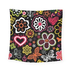 Flower Butterfly Square Tapestry (small)