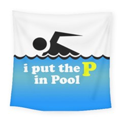 Funny Swiming Water Square Tapestry (large)
