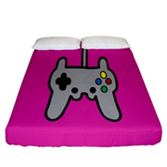 Game Pink Fitted Sheet (queen Size)