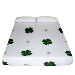 Green Leaf Fitted Sheet (queen Size)