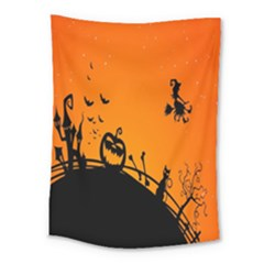 Halloween Day Medium Tapestry