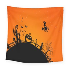 Halloween Day Square Tapestry (large)
