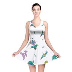 Leaf Reversible Skater Dress