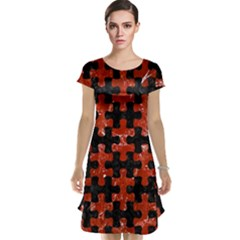 Puzzle1 Black Marble & Red Marble Cap Sleeve Nightdress