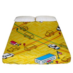 Highway Town Fitted Sheet (king Size)