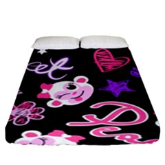 Monkey Face Cute Fitted Sheet (king Size)