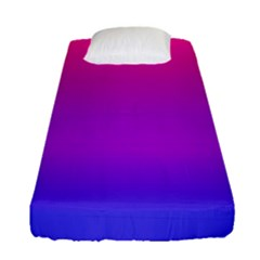 Pink Purple Blue Fitted Sheet (single Size)