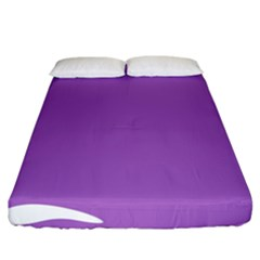 Purple Fitted Sheet (california King Size)
