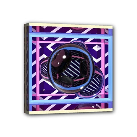Abstract Sphere Room 3d Design Mini Canvas 4  X 4