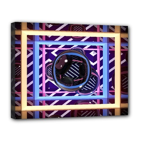 Abstract Sphere Room 3d Design Canvas 14  X 11