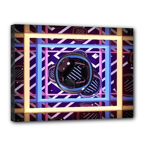 Abstract Sphere Room 3d Design Canvas 16  X 12