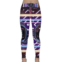 Abstract Sphere Room 3d Design Classic Yoga Leggings