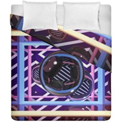 Abstract Sphere Room 3d Design Duvet Cover Double Side (california King Size)