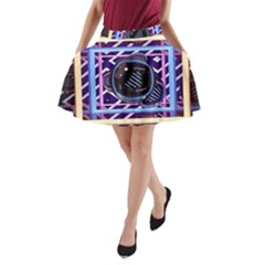 Abstract Sphere Room 3d Design A Line Pocket Skirt