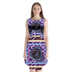 Abstract Sphere Room 3d Design Sleeveless Chiffon Dress