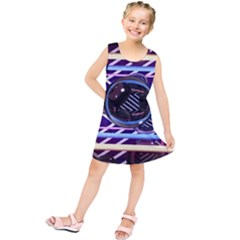 Abstract Sphere Room 3d Design Kids  Tunic Dress