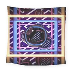 Abstract Sphere Room 3d Design Square Tapestry (large)