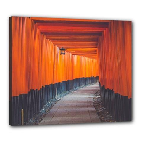 Architecture Art Bright Color Canvas 24  X 20