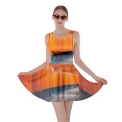 Architecture Art Bright Color Skater Dress