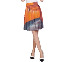 Architecture Art Bright Color A Line Skirt