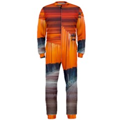 Architecture Art Bright Color Onepiece Jumpsuit (men)