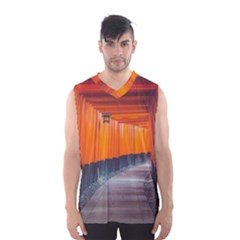 Architecture Art Bright Color Men s Basketball Tank Top