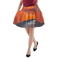Architecture Art Bright Color A Line Pocket Skirt