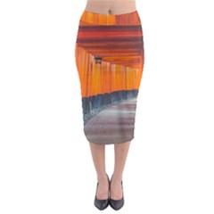 Architecture Art Bright Color Midi Pencil Skirt