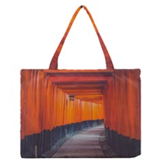 Architecture Art Bright Color Medium Zipper Tote Bag