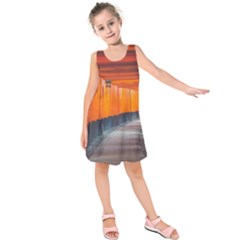 Architecture Art Bright Color Kids  Sleeveless Dress
