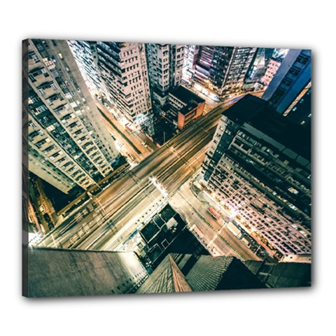 Architecture Buildings City Canvas 24  X 20