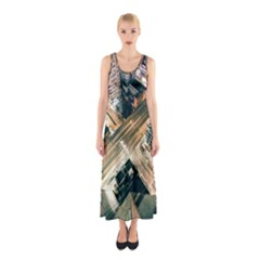 Architecture Buildings City Sleeveless Maxi Dress